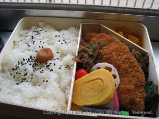 昭和39年当時のお弁当の中身