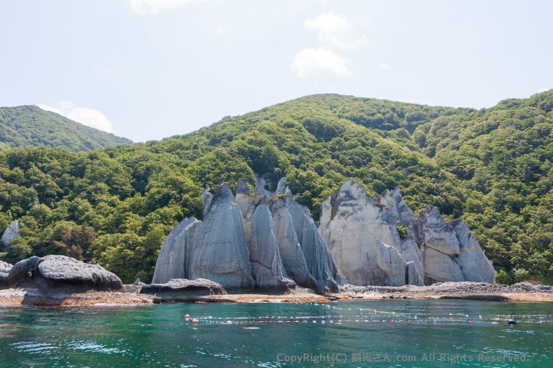 比較的近い巨岩