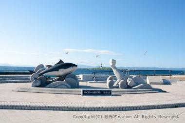 マグロ一本釣りの銅像