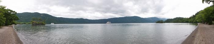 十和田湖のパノラマ