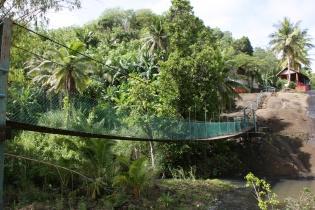第二の滝付近の吊り橋
