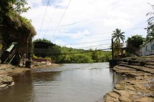 第一の滝付近の吊り橋