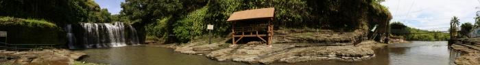 第一の滝のパノラマ写真