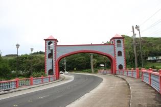 ウマタック橋の上