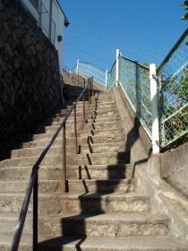 下から見た階段