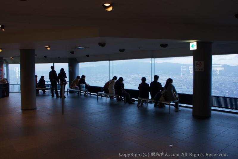 函館山の屋内展望台