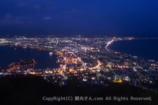 日没直後の函館山