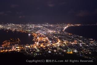 日没後の函館山