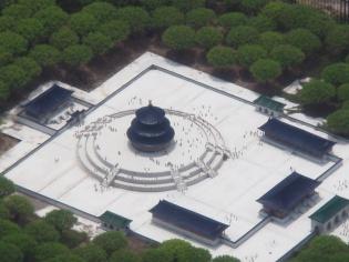 中国・天壇を空撮