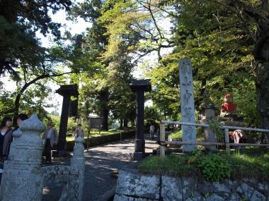関山 中尊寺入口