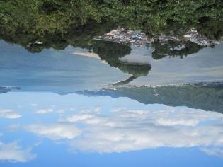 股のぞきした時のイメージ。天に架かる橋?
