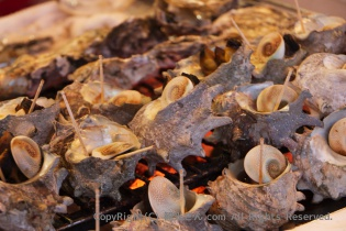 焼き牡蠣やサザエ