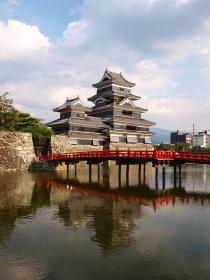 松本城の裏側?