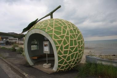 小長井町のフルーツバス停