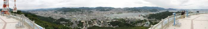 稲佐山からのパノラマ景色