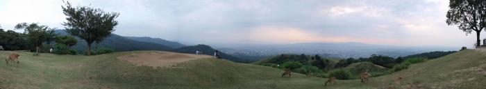 若草山山頂の様子
