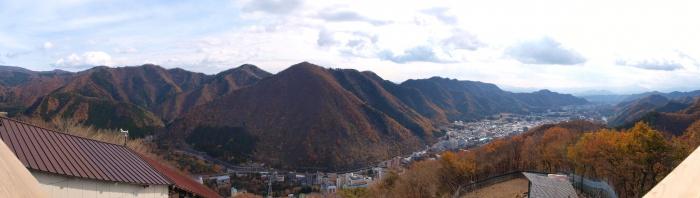 鬼怒川温泉ロープウェイ 展望台からの景色
