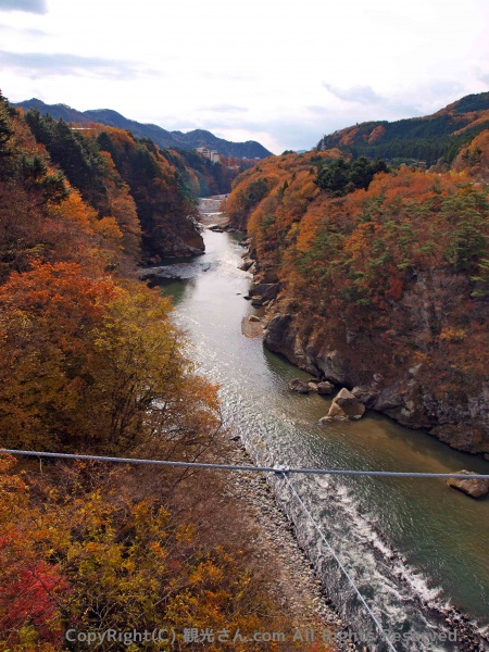 吊り橋からの風景