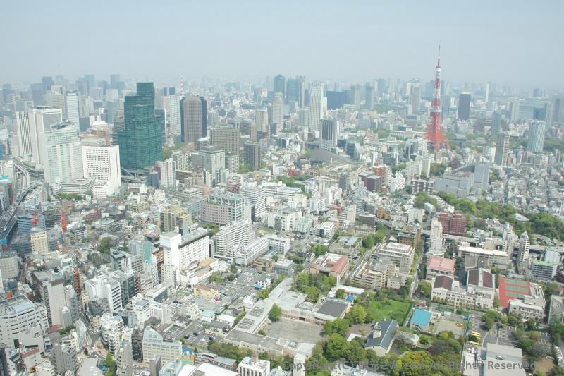 東京タワーやスカイツリー方面