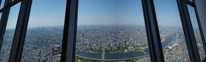 東京スカイツリー 天望デッキからの景色