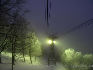 夜のロープウェイ(2)