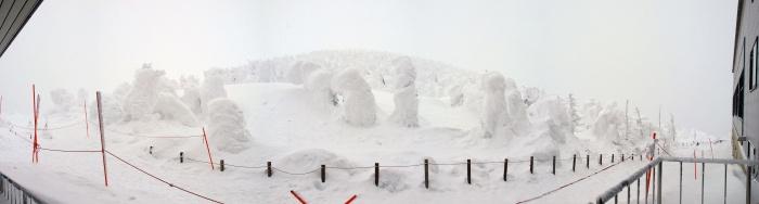 山形蔵王スキー場の樹氷(昼)