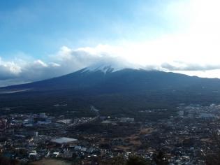 山頂「富士見台駅」からの眺め